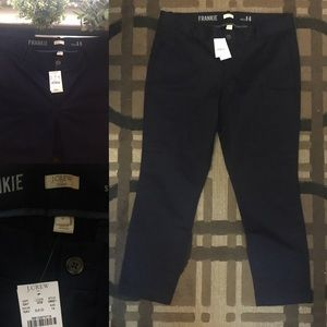 NWT J. Crew Frankie Chino Navy Cropped Work Pants
